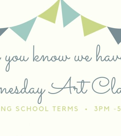 Free Art Classes every Wednesday!